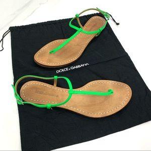 DOLCE&GABBANA neon sandals